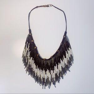 FP Fringe Beaded Collar Necklace